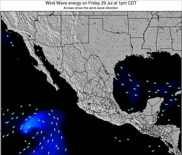 Mexico Wind Wave energy on Monday 28 Apr at 7am CDT