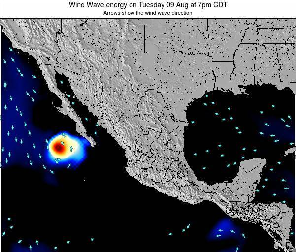 Mexico Wind Wave energy on Wednesday 06 Aug at 1am CDT