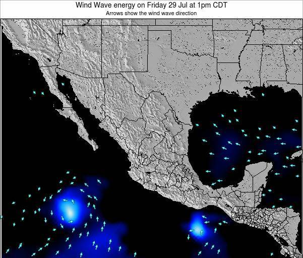 Mexico Wind Wave energy on Tuesday 01 Dec at 6pm CST