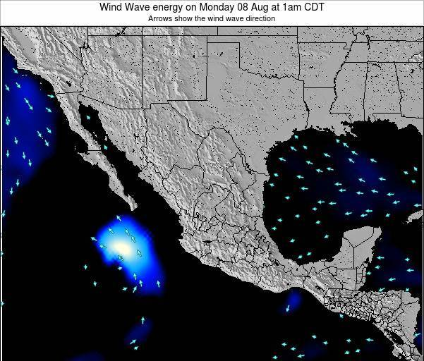 Mexico Wind Wave energy on Saturday 25 May at 7pm CDT