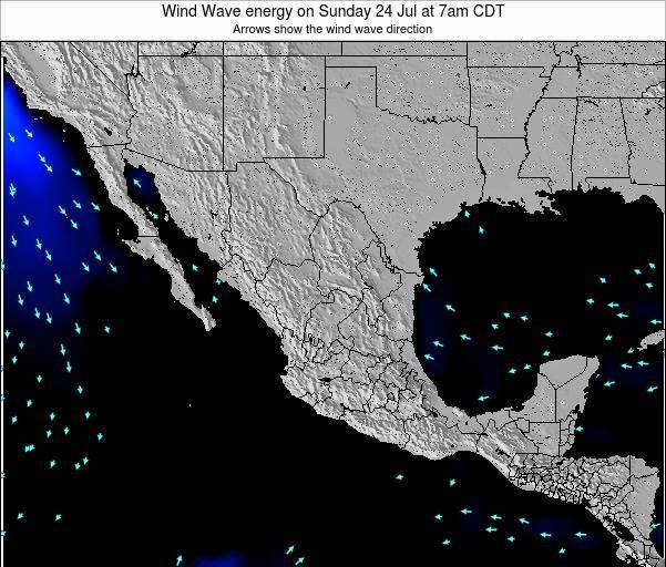 Mexico Wind Wave energy on Thursday 24 Jul at 7am CDT