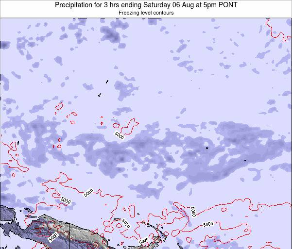 Micronesia Precipitation for 3 hrs ending Sunday 26 Aug at 5am PONT map