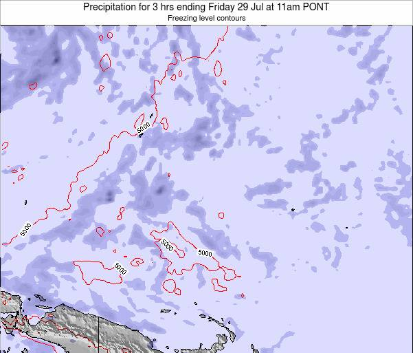 Micronesia Precipitation for 3 hrs ending Tuesday 05 Aug at 5pm PONT
