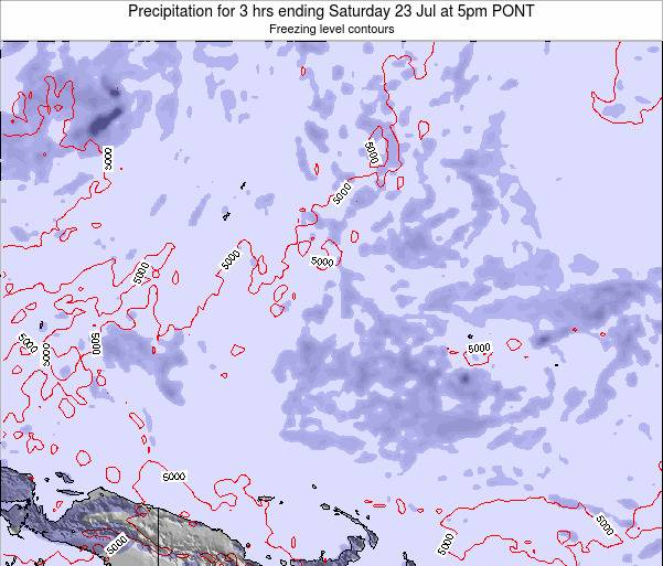 Micronesia Precipitation for 3 hrs ending Tuesday 29 Apr at 5am PONT