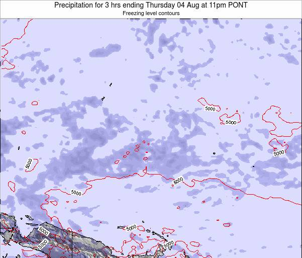Micronesia Precipitation for 3 hrs ending Tuesday 10 Dec at 11am PONT