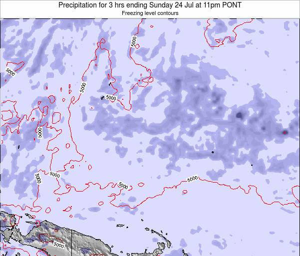 Micronesia Precipitation for 3 hrs ending Monday 28 Jul at 11pm PONT
