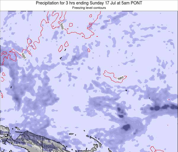 Micronesia Precipitation for 3 hrs ending Wednesday 18 Jul at 5pm PONT map