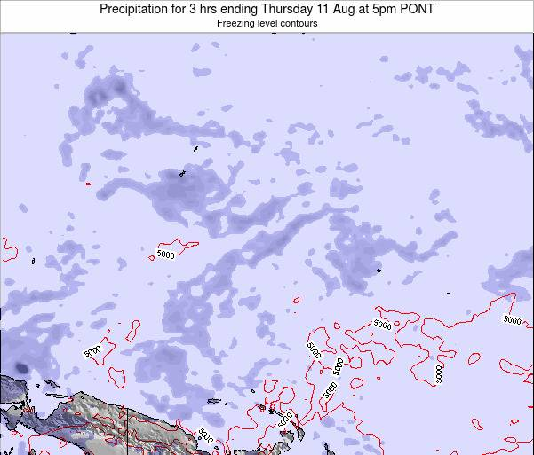 Micronesia Precipitation for 3 hrs ending Friday 24 May at 11am PONT