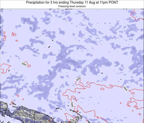 Micronesia Precipitation for 3 hrs ending Tuesday 29 Apr at 11am PONT