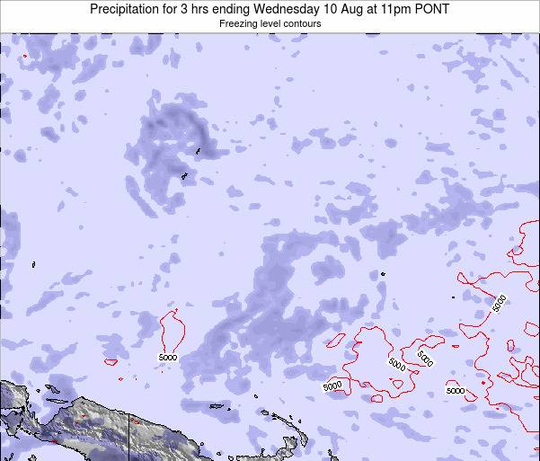Micronesia Precipitation for 3 hrs ending Tuesday 10 Dec at 5am PONT