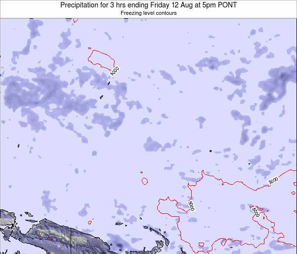 Micronesia Precipitation for 3 hrs ending Tuesday 28 Oct at 5am PONT