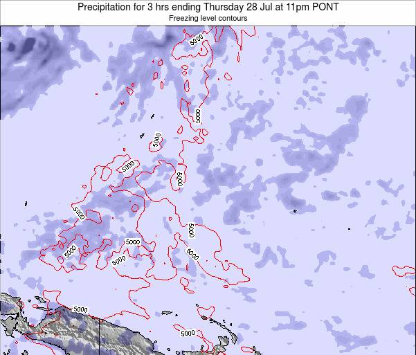 Micronesia Precipitation for 3 hrs ending Saturday 06 Sep at 11pm PONT