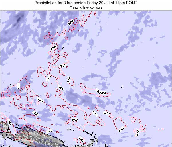 Micronesia Precipitation for 3 hrs ending Wednesday 29 May at 5pm PONT