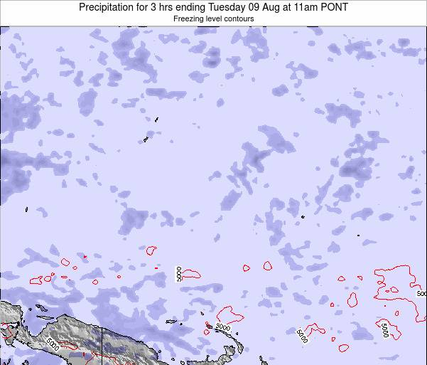 Micronesia Precipitation for 3 hrs ending Tuesday 07 Apr at 5pm PONT
