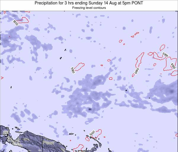Micronesia Precipitation for 3 hrs ending Wednesday 29 Oct at 5pm PONT