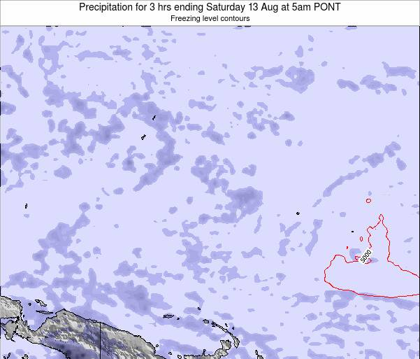 Micronesia Precipitation for 3 hrs ending Thursday 01 May at 11pm PONT
