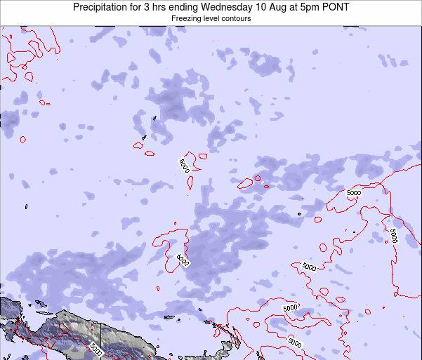 Micronesia Precipitation for 3 hrs ending Tuesday 28 Apr at 5am PONT