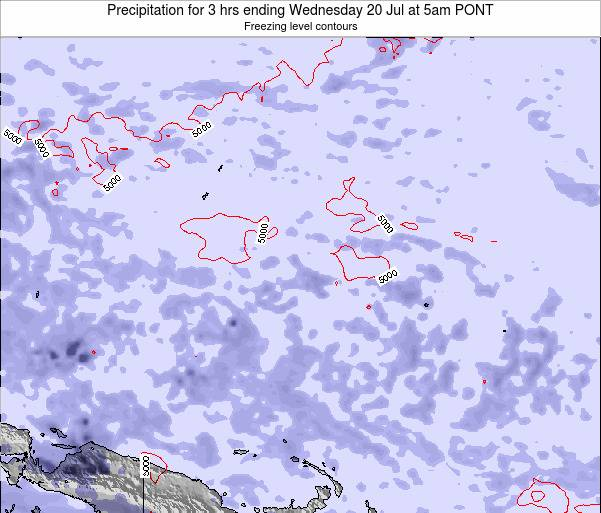 Micronesia Precipitation for 3 hrs ending Friday 02 Sep at 11pm PONT