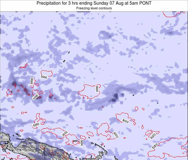 Micronesia Precipitation for 3 hrs ending Saturday 26 Apr at 5am PONT