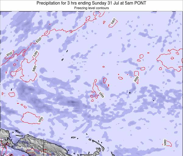 Micronesia Precipitation for 3 hrs ending Friday 08 Aug at 5pm PONT