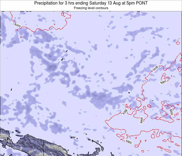 Micronesia Precipitation for 3 hrs ending Tuesday 29 May at 11am PONT map