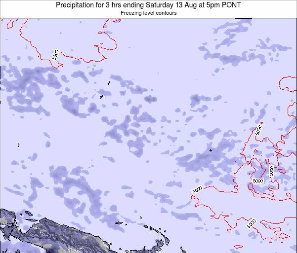 Micronesia Precipitation for 3 hrs ending Sunday 29 Apr at 11am PONT map