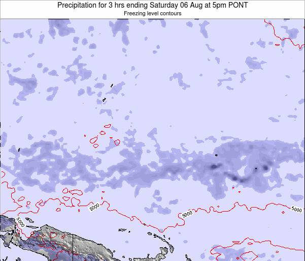 Micronesia Precipitation for 3 hrs ending Tuesday 02 Aug at 5am PONT