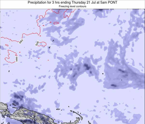 Micronesia Precipitation for 3 hrs ending Saturday 10 Oct at 11pm PONT