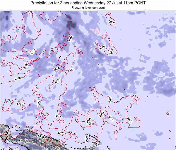Micronesia Precipitation for 3 hrs ending Sunday 08 Dec at 5am PONT