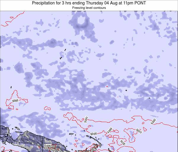 Micronesia Precipitation for 3 hrs ending Saturday 25 May at 11am PONT