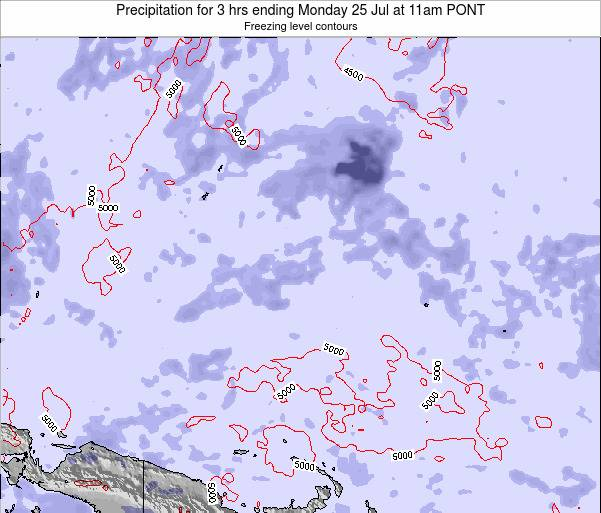 Micronesia Precipitation for 3 hrs ending Saturday 10 Dec at 5am PONT