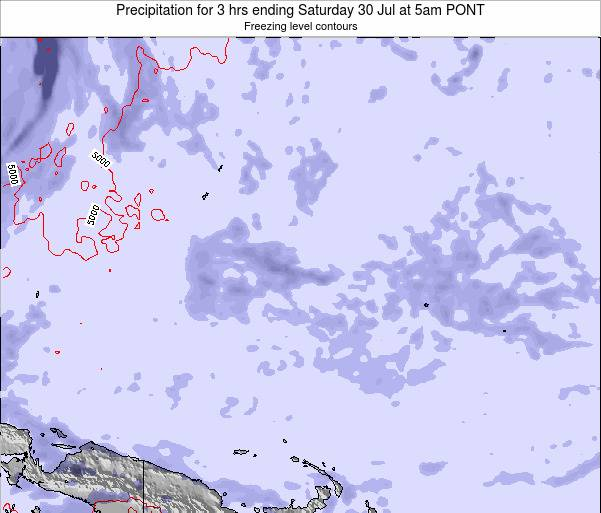 Micronesia Precipitation for 3 hrs ending Saturday 26 Apr at 11pm PONT