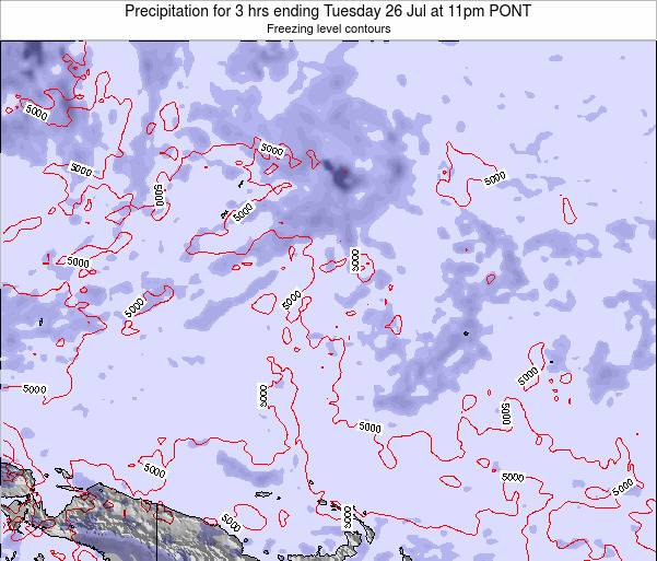 Micronesia Precipitation for 3 hrs ending Thursday 24 Jul at 5pm PONT