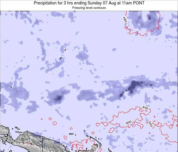 Micronesia Precipitation for 3 hrs ending Saturday 02 Aug at 11pm PONT