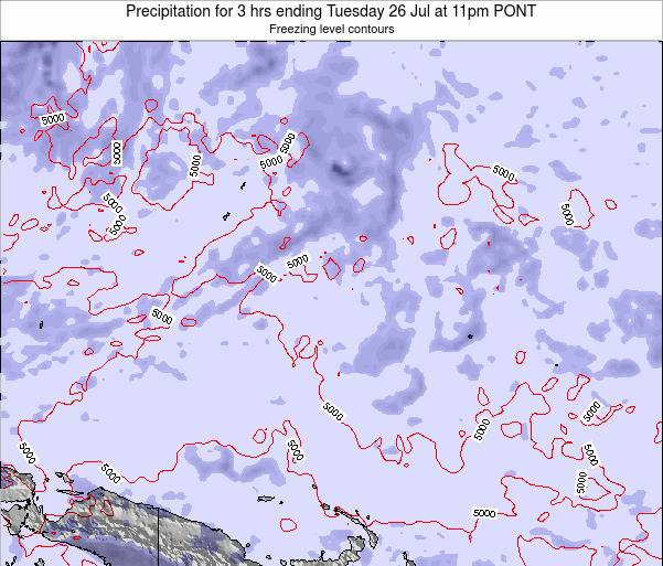 Micronesia Precipitation for 3 hrs ending Monday 09 Dec at 11am PONT