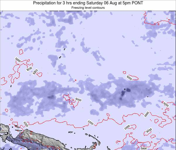 Micronesia Precipitation for 3 hrs ending Wednesday 23 Jan at 5am PONT map