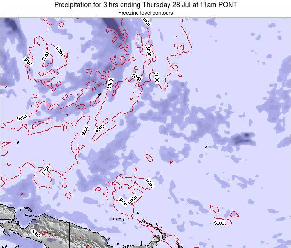 Micronesia Precipitation for 3 hrs ending Monday 10 Mar at 11pm PONT