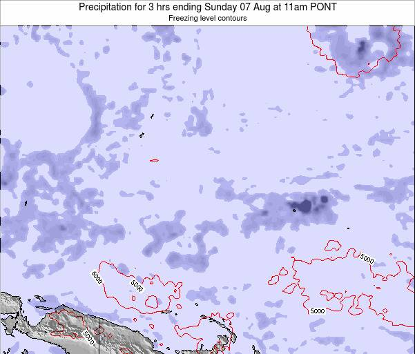 Micronesia Precipitation for 3 hrs ending Sunday 27 Apr at 11am PONT
