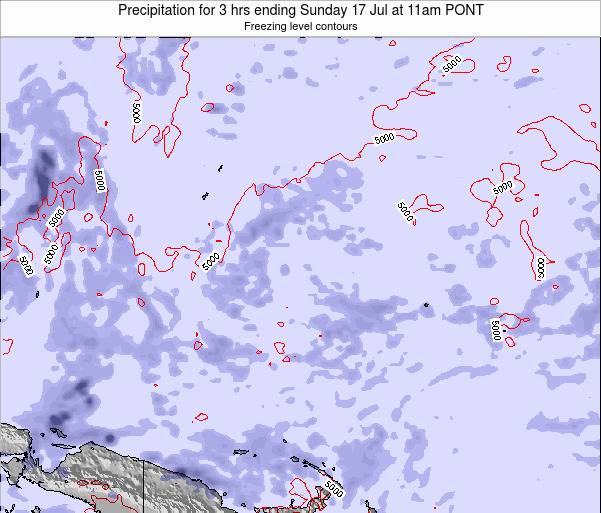 Micronesia Precipitation for 3 hrs ending Thursday 26 Apr at 11am PONT map