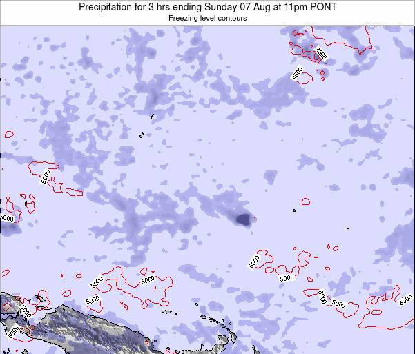 Micronesia Precipitation for 3 hrs ending Saturday 19 Apr at 11pm PONT