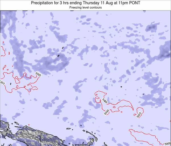 Micronesia Precipitation for 3 hrs ending Friday 05 Sep at 5pm PONT