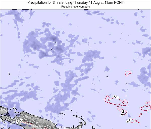 Micronesia Precipitation for 3 hrs ending Friday 27 Apr at 11pm PONT map