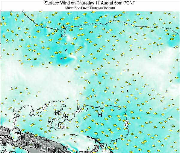 Micronesia Surface Wind on Monday 27 May at 11am PONT