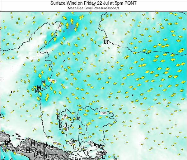 Micronesia Surface Wind on Friday 24 May at 11pm PONT