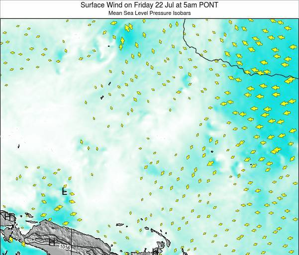 Micronesia Surface Wind on Monday 27 May at 5am PONT