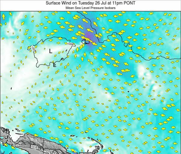 Micronesia Surface Wind on Sunday 26 May at 11am PONT