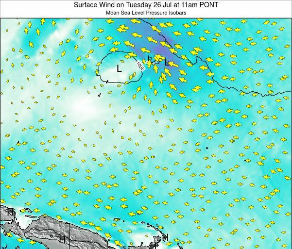 Micronesia Surface Wind on Sunday 23 Jun at 5am PONT