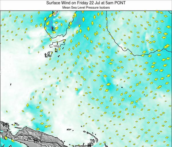 Micronesia Surface Wind on Wednesday 22 May at 5pm PONT
