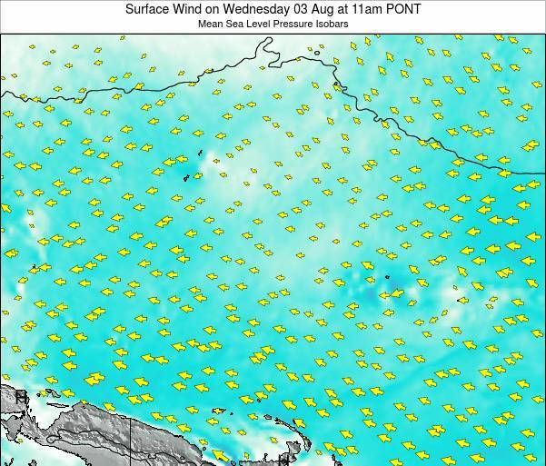 Micronesia Surface Wind on Monday 27 May at 5pm PONT