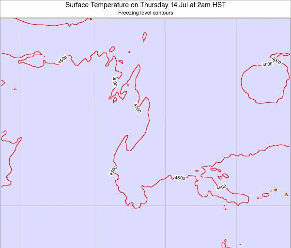 Midway Islands Surface Temperature on Friday 24 May at 2am HST map